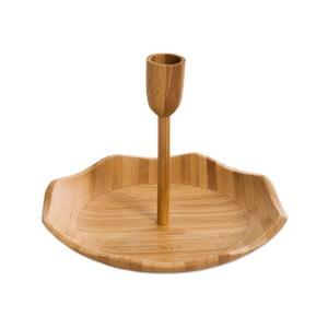 Servírovací podnos s držákem na párátka Bambum Pick, ⌀ 20 cm