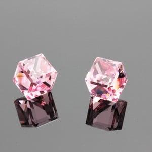 Náušnice Swarovski Elements Beatiful Rosa