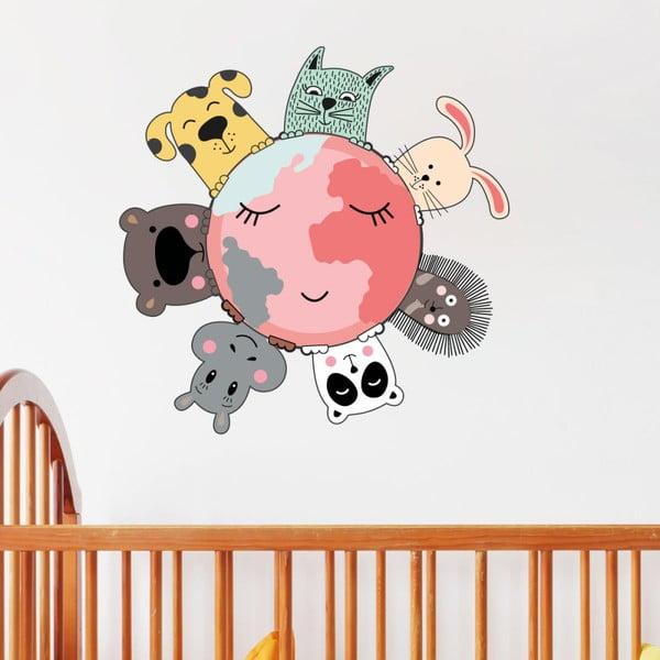 Nástěnné dětské samolepky Ambiance Animal World
