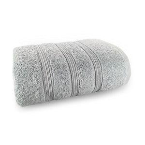 Světle šedá osuška ze 100% bavlny Marie Lou Majo, 150 x 90 cm