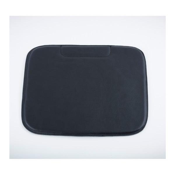 Černý sedák z buvolí kůže k barové židli Gazzda Leina