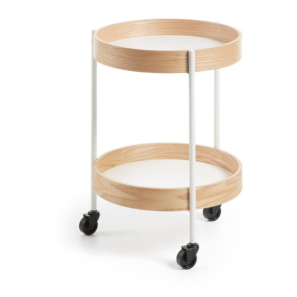 Odkladací stolík na kolieskach La Forma Alban, priemer 40cm