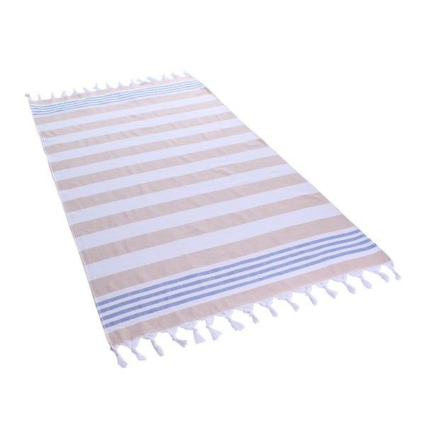 Bawełniany ręcznik kąpielowy DecoKing Sand Santorin, 90x170 cm