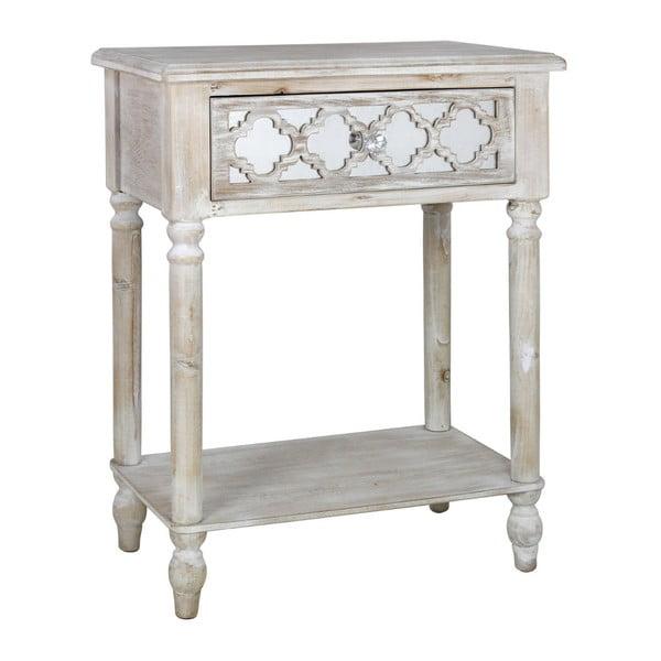 Příruční stolek se zásuvkou CIMC Hampton Ash and Mirror