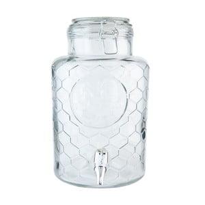 Skleněná nádoba s kohoutkem Clayre & Eef, objem 5,3 litru