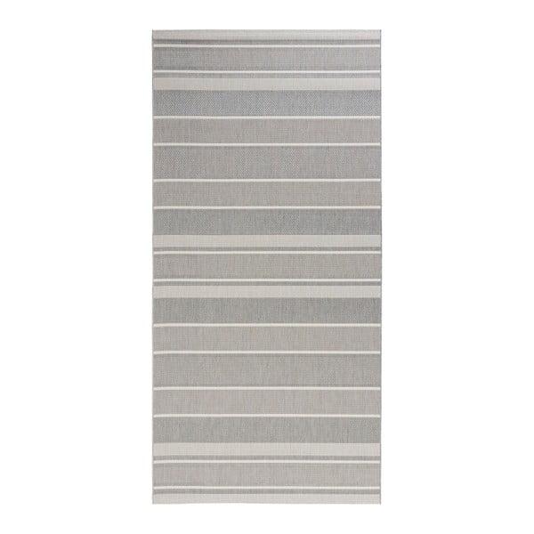 Covor potrivit pentru exterior Bougari Strap, 80 x 200 cm, gri