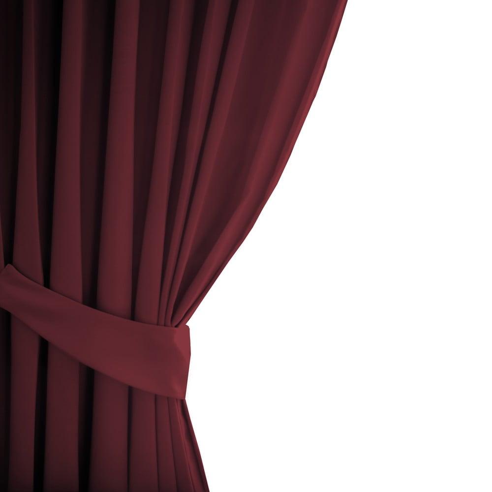 Červený závěs AmeliaHome Eyelets Rose, 140 x 245 cm