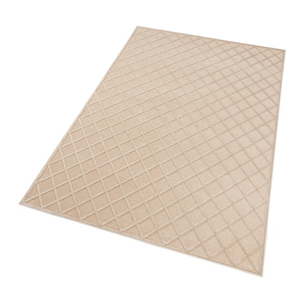 Krémový koberec Mint Rugs Shine Karro, 80 x 125 cm