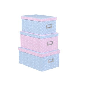 Set úložných krabic Ella, 3ks