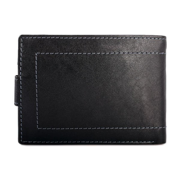 Kožená peněženka Lois Black, 10x7,5 cm
