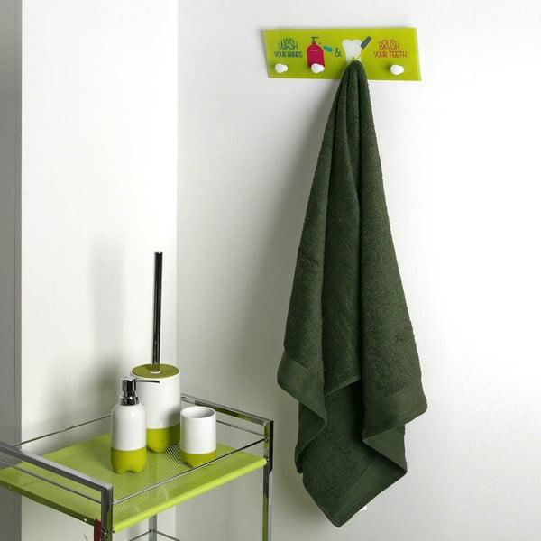Zelený nástěnný věšák Versa Bathroom