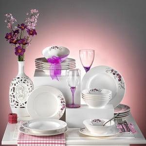 Porcelánový talířový set Flowers II, 24 ks