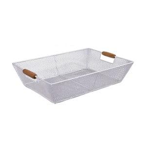 Coș depozitare Esschert Design, lungime 41,5 cm, alb