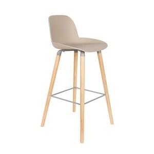 Sada 2 béžových barových židlí Zuiver Albert Kuip, výška sedu 75 cm