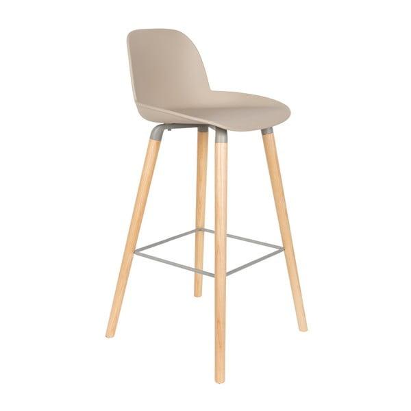 Set 2 scaune bar Zuiver Albert Kuip, înălțime scaun 75cm, bej