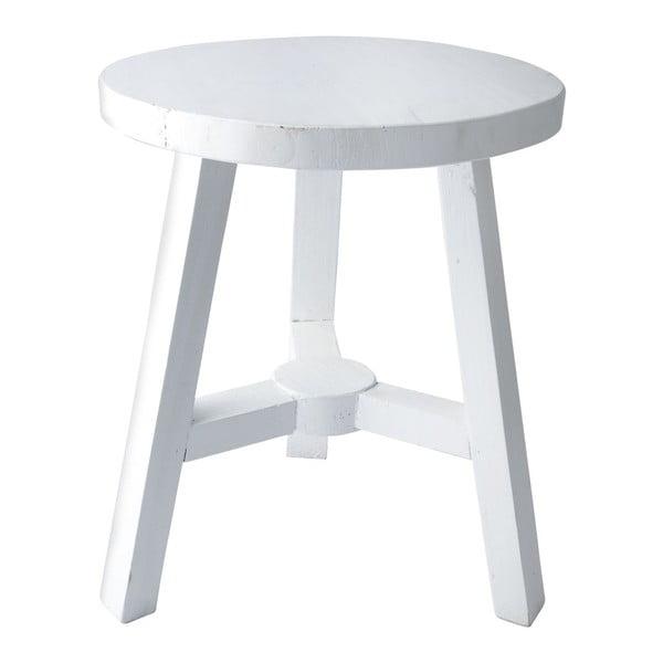 Dřevěná stolička, bílá, 38,5 cm