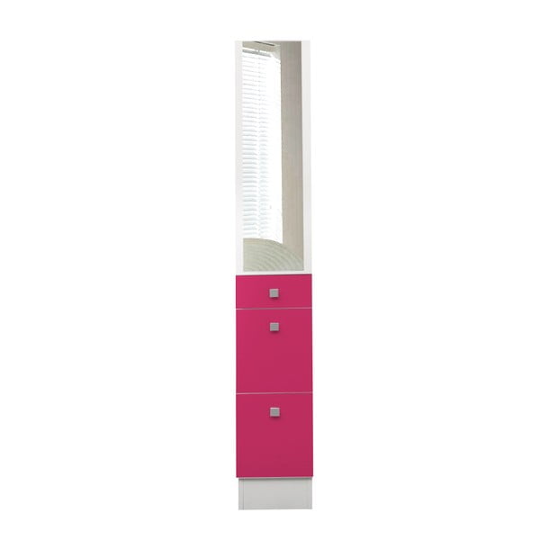 Růžová koupelnová skříňka Symbiosis André,šířka24,3cm