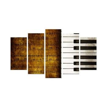Tablou din mai multe piese Piano, 110 x 60 cm de la Unknown