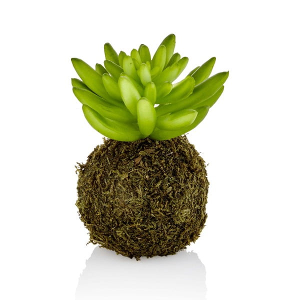 Kokedama din flori artificiale The Mia Crasi