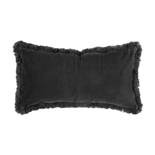 Čierny vankúš so zamatovým povrchom PT LIVING, 60 x 30 cm