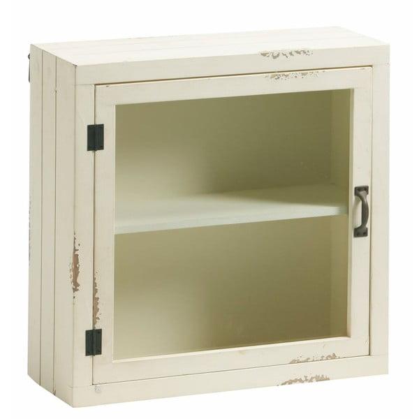 Skříňka se sklěněnými dvířky Antique White, 50x50 cm