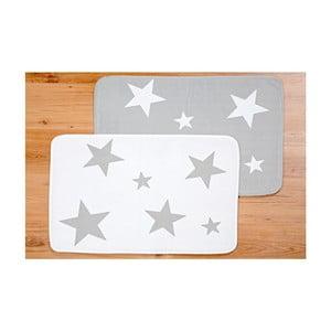 Sada 2 prostíráné Grey Star, 50x70 cm