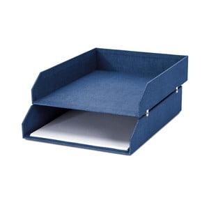 Modrý 2patrový organizér na dokumenty Bigso, 31 x 23 cm
