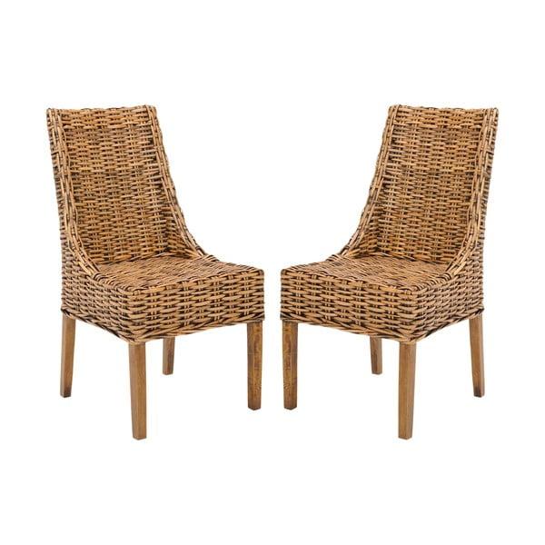 Sada 2 ratanových židlí Addison