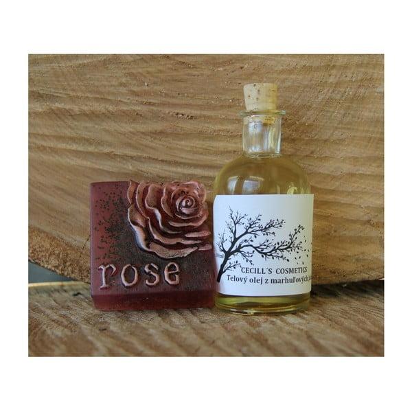 Dárková sada mýdlo a olej, višně