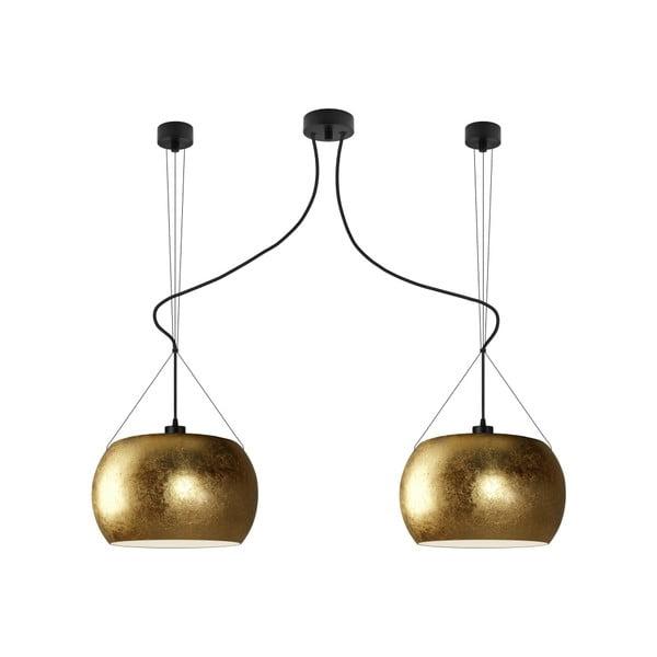 Dvojité světlo MOMO Elementary gold/black/black