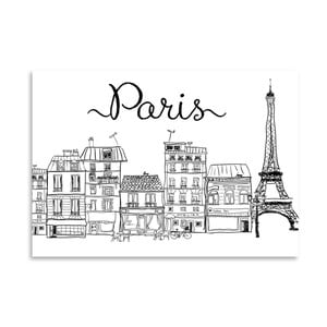 Poster Americanflat Paris, 30 x 42 cm
