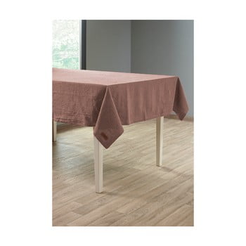 Față de masă cu adaos de in Tiseco Home Studio, 135 x 240 cm, maro gri imagine