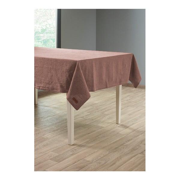 Szürkésbarna lenkeverék asztalterítő, 135 x 240 cm - Tiseco Home Studio