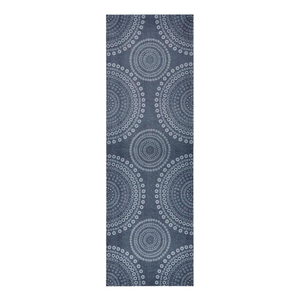 Šedý kuchyňský běhoun Zala Living Flower Dots, 50 x 150 cm