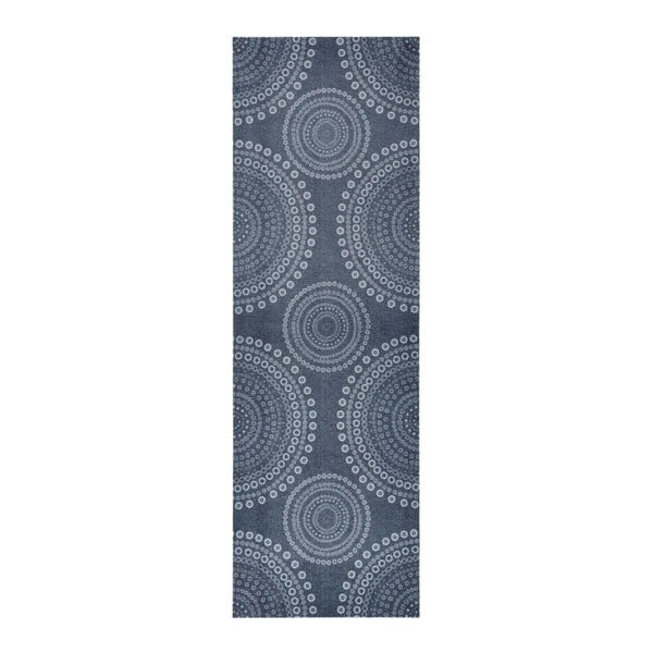 Sivý kuchynský behúň Zala Living Flower Dots, 50×150cm
