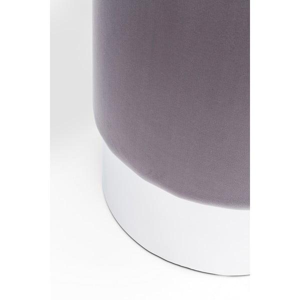 Stolička ve stříbrné barvě Kare Design Cherry, ∅35cm
