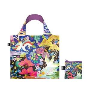 Skládací nákupní taška s kapsičkou LOQI Dancing Birds