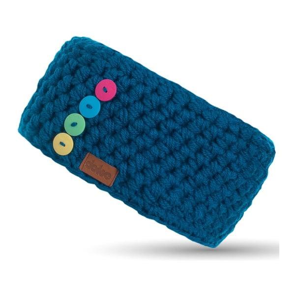 Bentiță tricotată manual DOKE Petrol