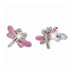 Cercei Swarovski Elements Laura Bruni Dragonfly Duo, roz