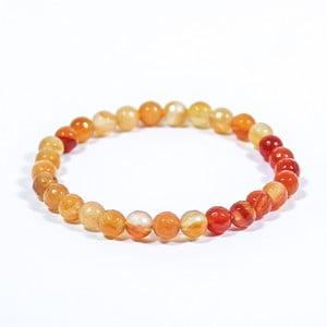 Oranžový náramek z přírodních minerálů s achátem Yogaly Temparament