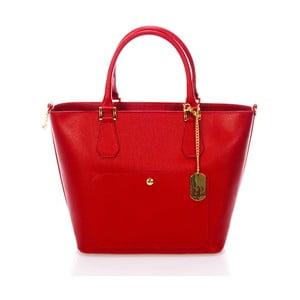 Červená kabelka z pravé kůže Federica Bassi Scherzi