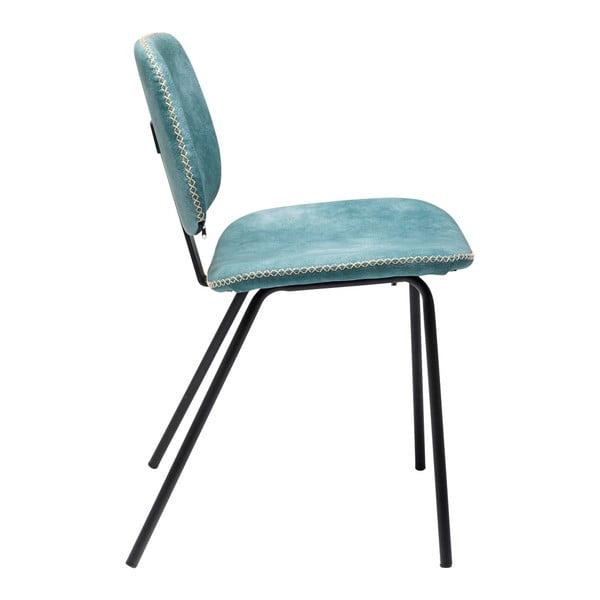 Sada 4 modrých jídelních židlí Kare Design  Barber