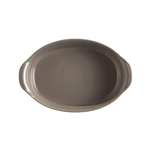 Vas oval de copt Emile Henry, 1,3 l, gri rândunică