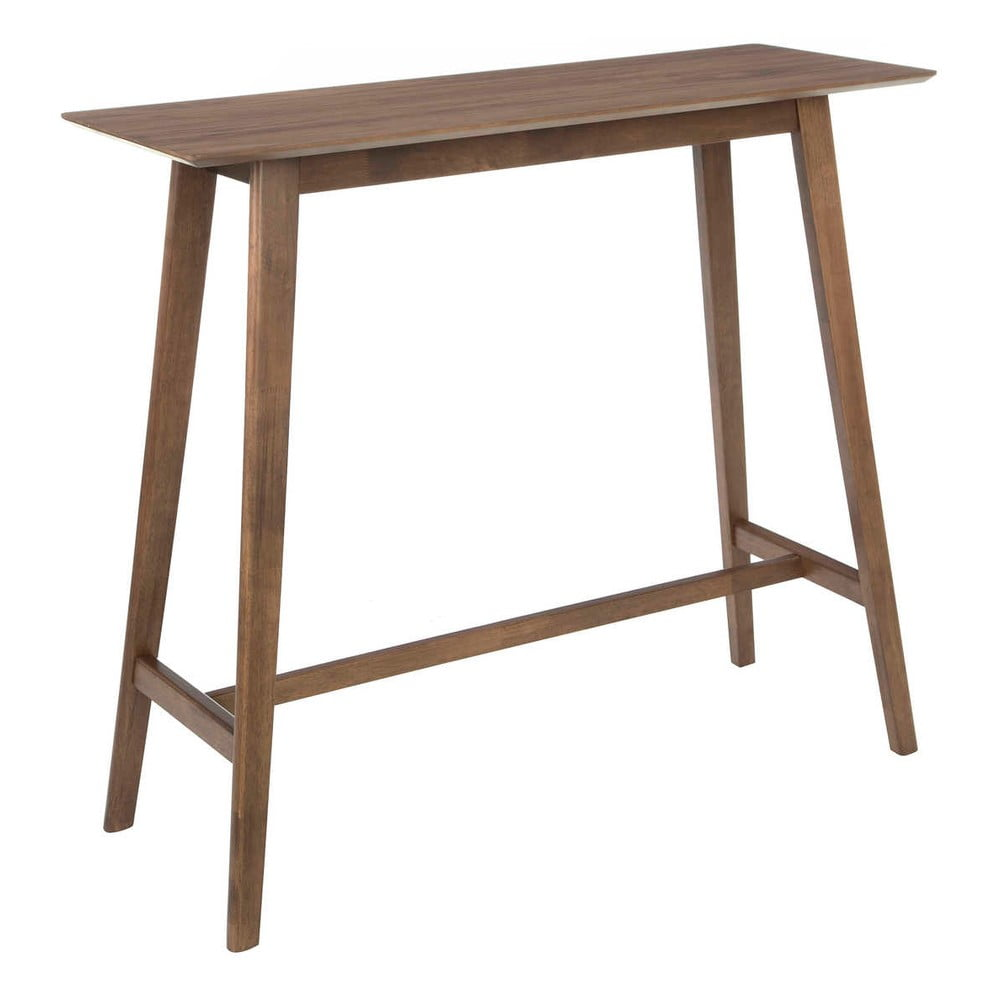 Tmavě hnědý barový stůl z gumovníkového dřeva Tropicho