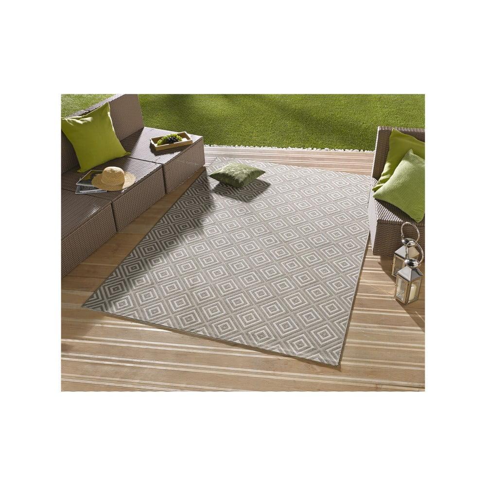 Produktové foto Šedý koberec vhodný do exteriéru Bougari Karo, 140x200cm