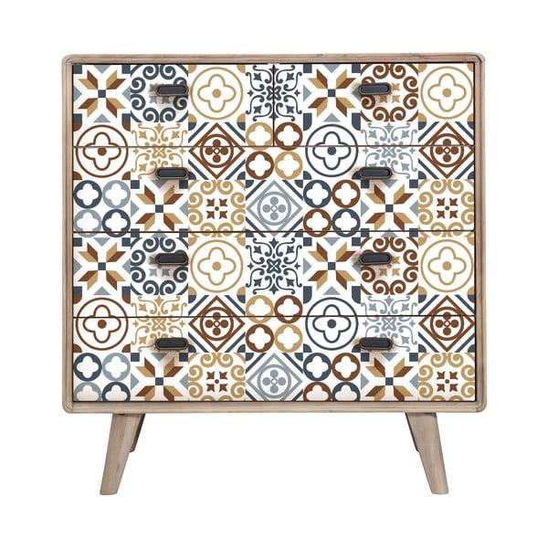 Set 60 autocolante pentru mobilă Ambiance Lionel Brown, 20 x 20 cm