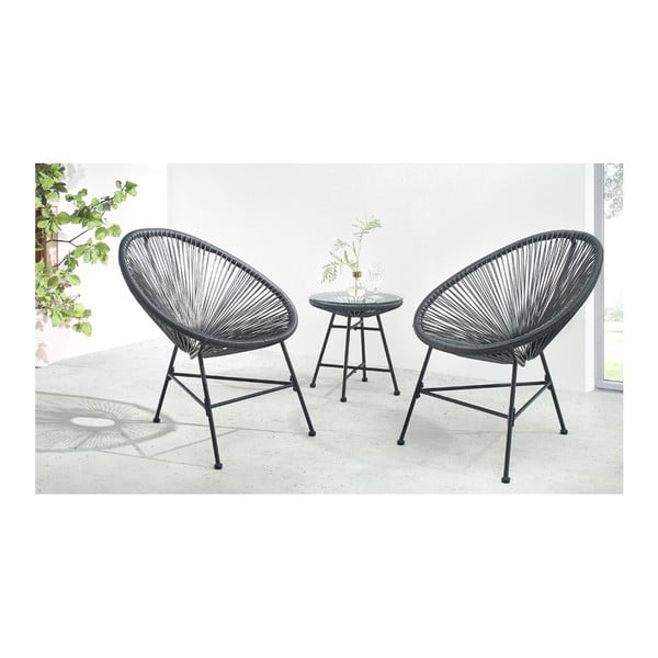 3dílný set zahradního nábytku Bobochic Paris Pinto