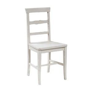 Bílá jídelní židle z masivního bukového dřeva Biscottini Addy