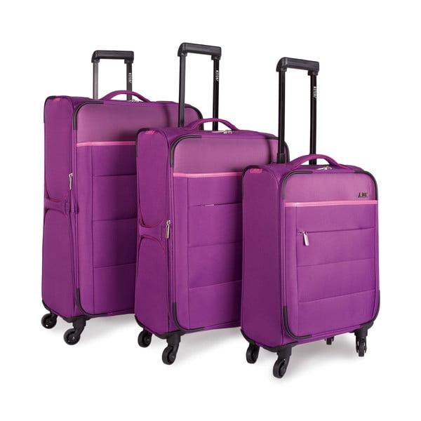 Sada 3 kufrů Jaslen, fialová