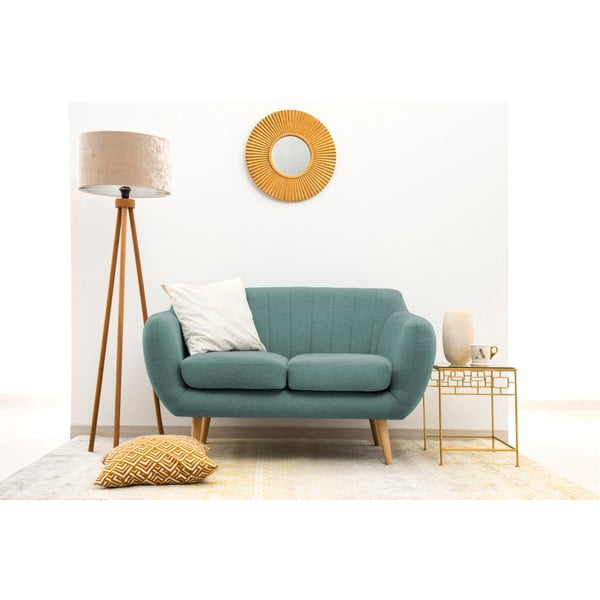 Canapea cu 2 locuri Vivonia Kennet, albastru